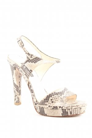 Albano High Heel Sandaletten hellbeige-anthrazit Animalmuster Party-Look