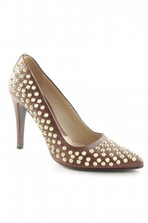 Albano High Heels brown leather