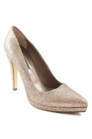 Albano High Heels gold-colored-light brown elegant