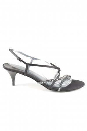 Albano Strapped High-Heeled Sandals black casual look