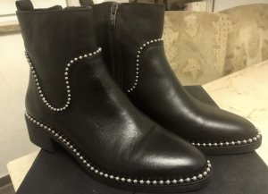Albe Damen Stiefletten Boots Echt Leder Stiefel Neu 38