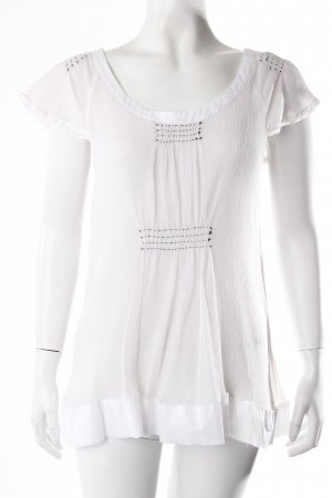 Alberta Ferretti Short Sleeved Blouse black-white
