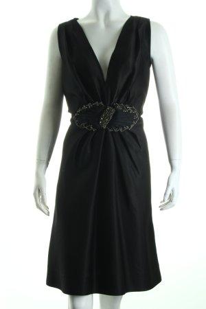 Alberta Ferretti Cocktailkleid schwarz-silberfarben Eleganz-Look
