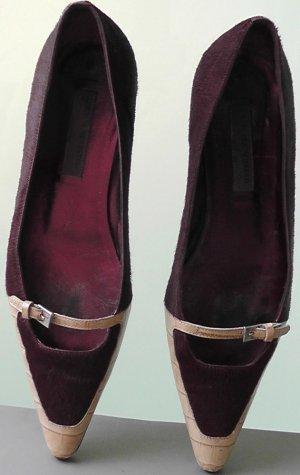 Alberta Ferretti Ballerinas with Toecap purple-beige leather