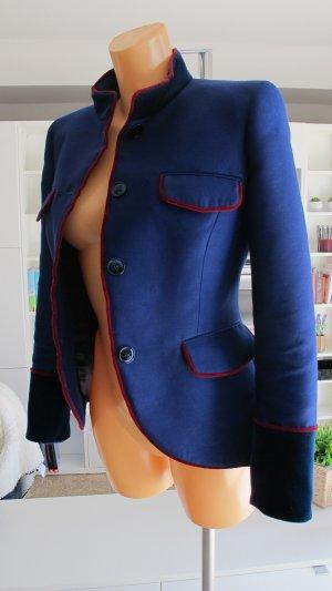 Alberta Ferretti Blazer azul-rojo oscuro