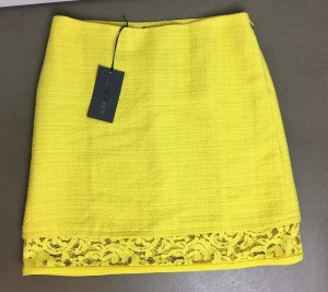 Alberta Ferretti Minifalda amarillo tejido mezclado