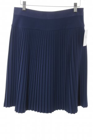 Alberta Ferretti Pleated Skirt dark blue business style