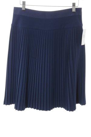 Alberta Ferretti Jupe plissée bleu foncé style d'affaires