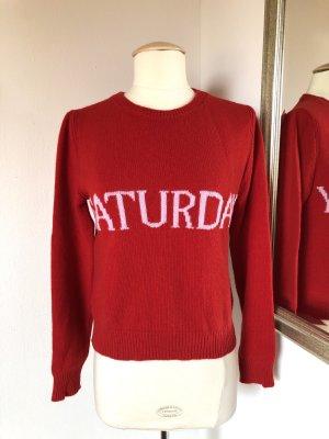 Alberta Ferretti Cashmere Jumper red-brick red