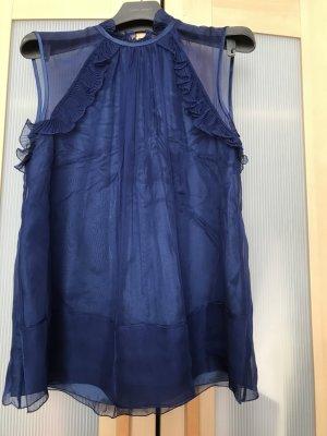 Alberta Ferretti Blusa sin mangas azul-azul oscuro