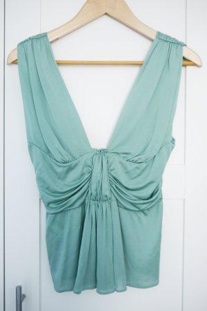 Alberta Ferretti Top vert menthe-turquoise tissu mixte