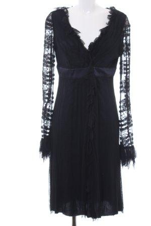 Alberta Ferretti Spitzenkleid dunkelblau-schwarz Elegant
