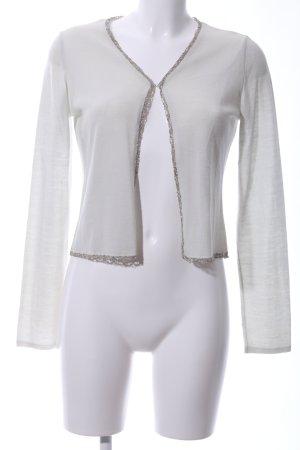 Alberta Ferretti Cardigan light grey-silver-colored casual look