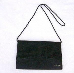 Albertario Majesty Line black Clutch original Vintage 1980er Jahre