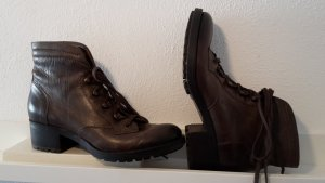Alberto Fermani Lace-up Booties dark brown leather