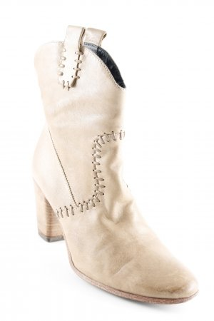 Alberto Fermani Stivaletto beige stile country