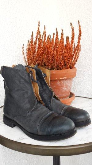 Alberto Fermani dunkelblaue Boots Leder Gr. 38,5