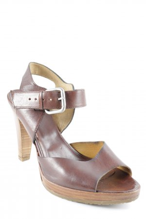 Alberto Fermani High Heel Sandal brown-dark brown simple style