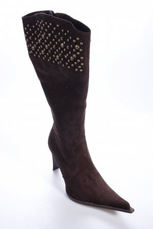 Alberto Fermani leather boots rivets