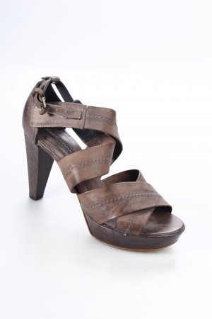 Alberto Fermani Platform High-Heeled Sandal brown casual look