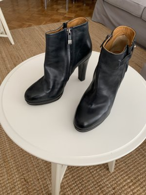 Alberto Fermani Platform Booties dark blue leather