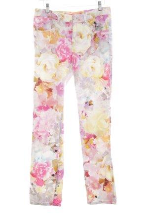 Alberto Drainpipe Trousers allover print casual look