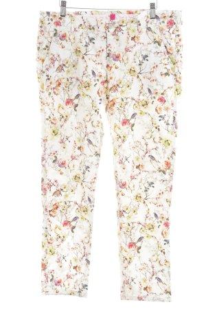 Alberto Jeans slim motif de fleur style extravagant