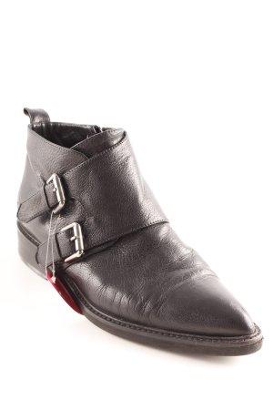 alberto zago Zipper Booties black street-fashion look