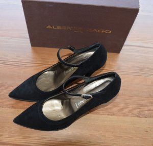 alberto zago Backless Pumps black leather