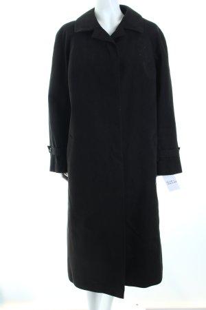 Alcantara Wintermantel schwarz schlichter Stil