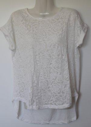 ALCOTT LOS ANGELES halb-transparentes weißes Shirt mit Blumen-Muster