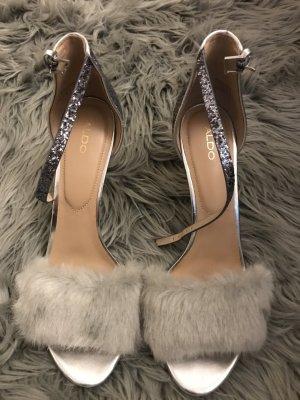 Aldo Sandals silver-colored