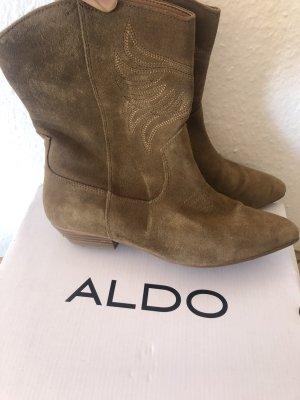 Aldo Slip-on Booties sand brown