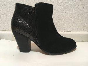 ALDO Cedrina Glitter Ankle Boots Black