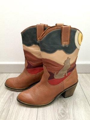 Aldo Cowboystiefel Stiefel Stiefeletten Western Gr 38 Cognac braun Winterstiefel