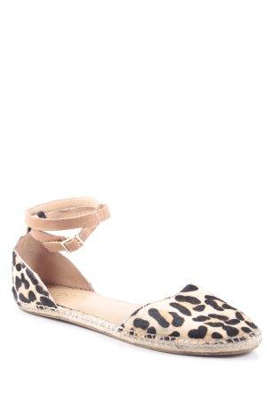 Aldo Espadrilles-Sandalen beige-schwarz Animalmuster klassischer Stil