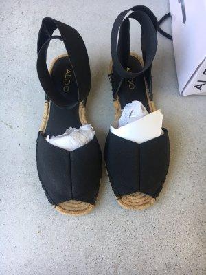 Aldo Espadrille Sandals black