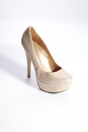 Aldo Glitzerpumps gold