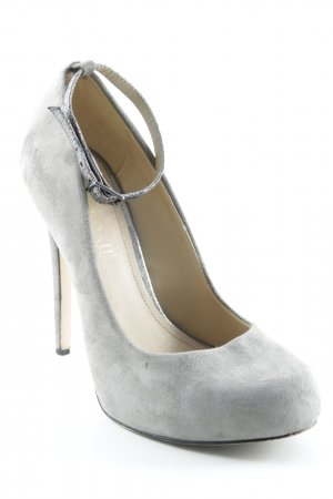 Aldo High Heels grey-silver-colored extravagant style