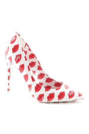 Aldo High Heels weiß-rot Motivdruck extravaganter Stil