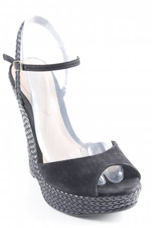 Aldo Pumps met sleehak zwart abstract patroon casual uitstraling