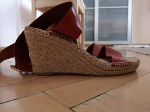 Aldo Wedge Sandals light brown-brown leather