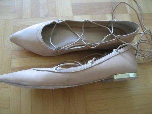 Aldo Lace-up Ballerinas creme Gr. 40