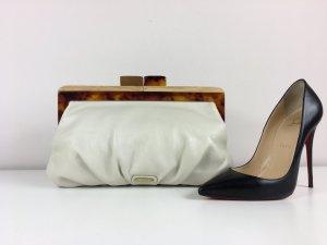 Aldo Leder Handtasche Clutch Abendtasche Creme Ivory