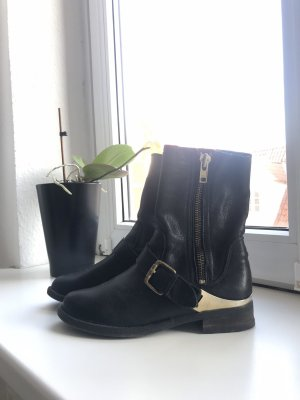 Aldo Short Boots black-gold-colored
