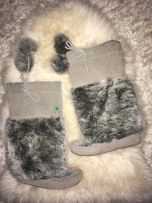 Aldo Laarzen met bont lichtgrijs-grijs