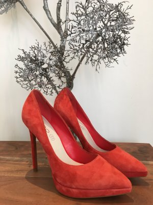 ALDO Plateau High Heels Pumps Stilettos Gr. 38 Rot