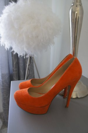 ALDO Pumps Größe 41 Leder orange TOP