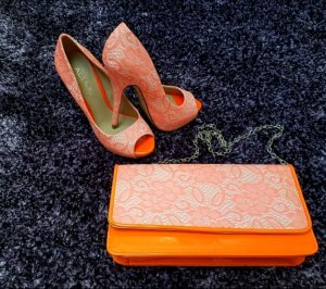 ALDO Pumps High Heel inkl. Tasche Neonorange gr 35
