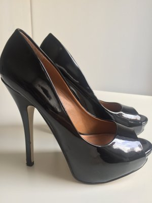 ALDO Pumps schwarz Lackleder